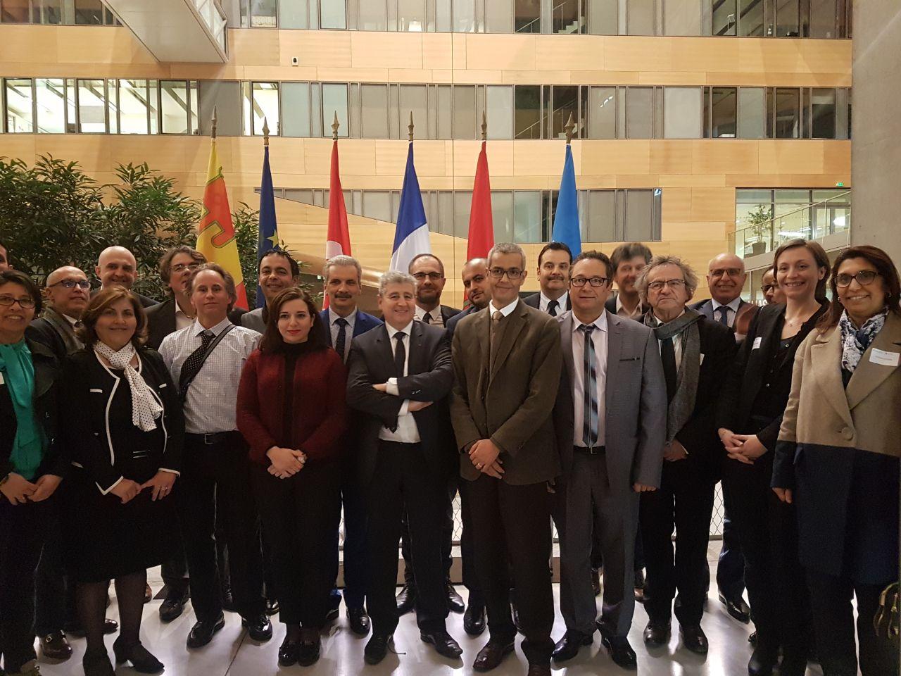 La délégation SALEEM accueillie à la Région Auvergne-Rhône-Alpes en présence de M. Pierre Bérat, Président de la Commission Enseignement Supérieur et Recherche de la Région, et de M. Khaled Bouabdallah, Président de l'Université de Lyon.
