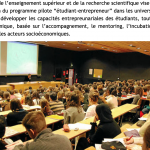 """Programme """"étudiant-entrepreneur"""" pour renforcer l'employabilité"""